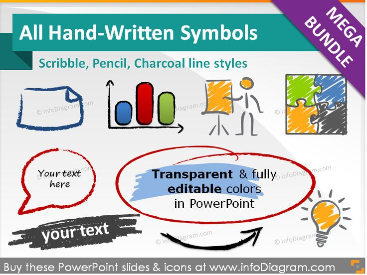 All Handwritten Symbols and Shapes, Mega-Bundle (PPT icons)