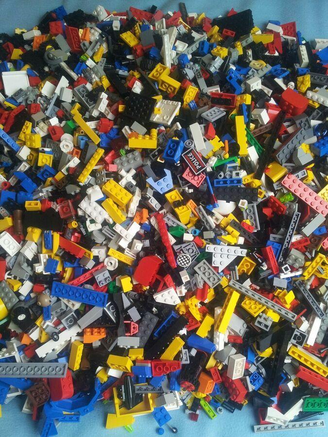 1kg Mixed Real LEGO Bricks Parts Pieces Starter Set Bulk JobLot Bundle