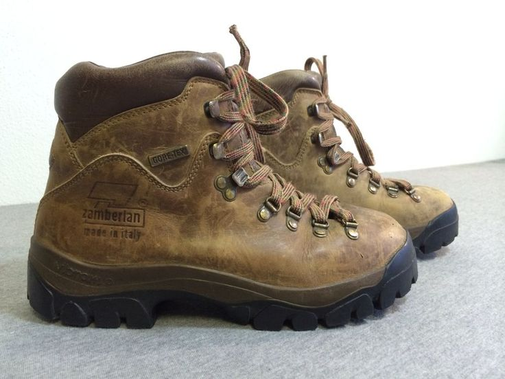 ZAMBERLAN Boots Trekking ITALY Leather Gore-Tex Hiking Trail Vibram US 6 Womens #Zamberlan #HikingTrail