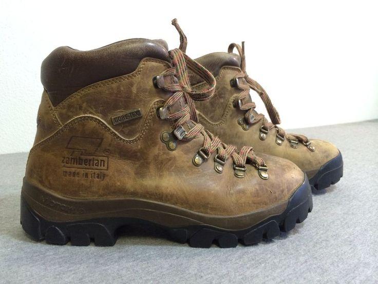 ZAMBERLAN Boots Trekking ITALY Leather Gore-Tex  Hiking Trail Vibram US 6 Womens #Zamberlan #HikingTrail
