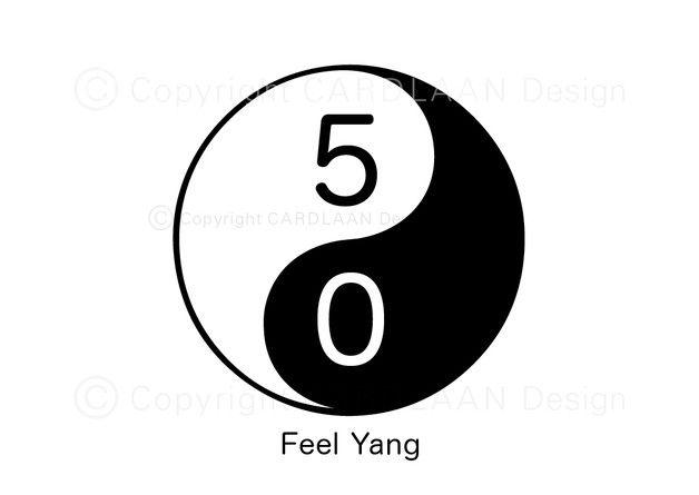 Einladung 50. Geburtstag (YinYang)