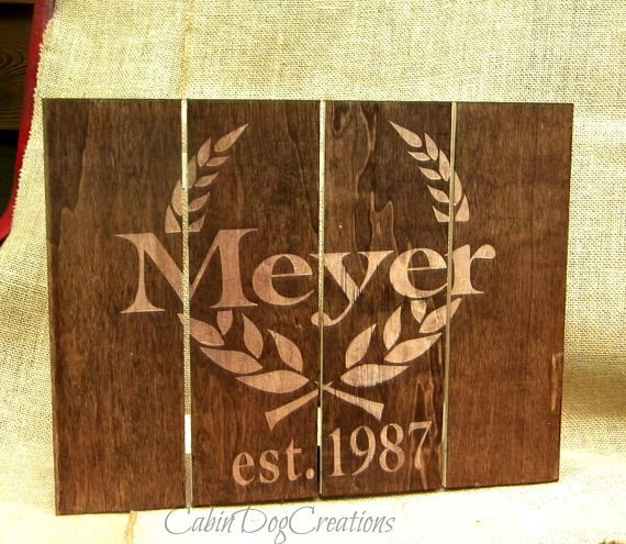 Handcrafted Wood Pallet Sign  Personalized