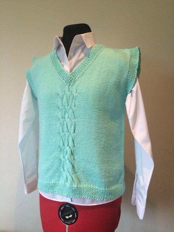 Ladies Vest   Hand Knitted Top   Handmade  Ladies by MarianaPandi
