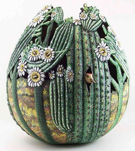 Gourd art by Phyllis Sickles hay hayyyyyyyyyyyyyy
