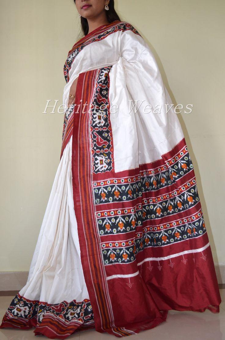 Double ikat patola narikunj motif silk saree
