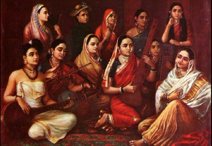 Raja Ravi Varma, Galaxy of Musicians - Sari - Wikipedia, the free encyclopedia
