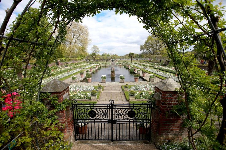 Look inside the White Garden, which will be open to the public free of charge until September. The White Garden at Kensington Palace....for Diana