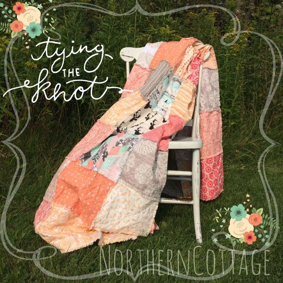 WEDDING QUILT // Guest Book // Rag QuiLT // YOU by NorthernCottage