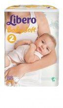 Πάνες Libero Baby Soft No2 Mini (3-6kg) 88τμ
