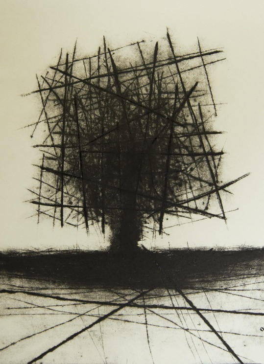 "Saatchi Online Artist: Johannes Nielsen; Etching, Printmaking ""Drypoint"""