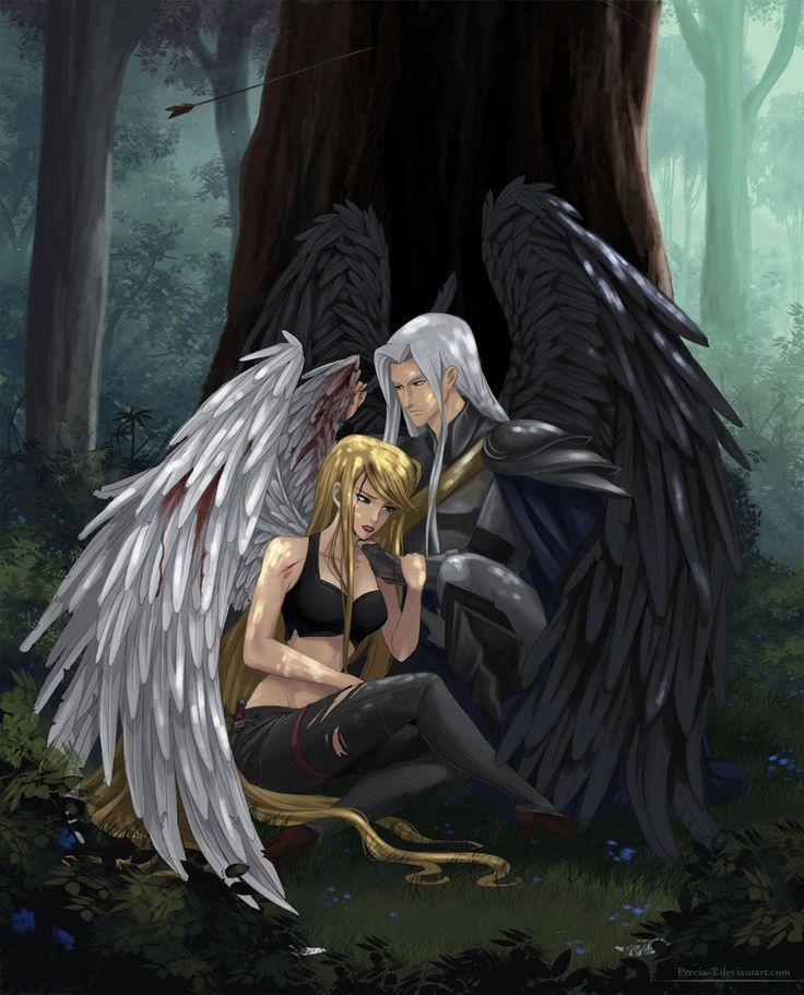 Fallen angel girl anime
