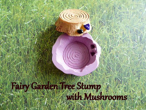 Fairy Miniature Tree Stump Mushroom 3D Silicone Mold Cake Tool Fondant Chocolate Candy Cake Topper Polymer Clay DIY Craft Tool