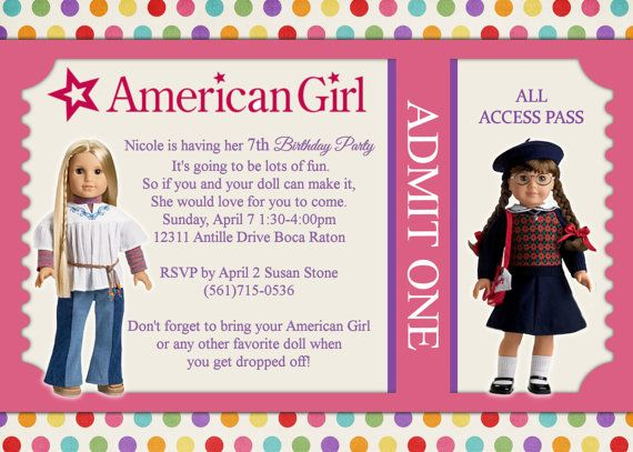 7 curated AG Invitations ideas by reneepmock – American Girl Doll Party Invitations