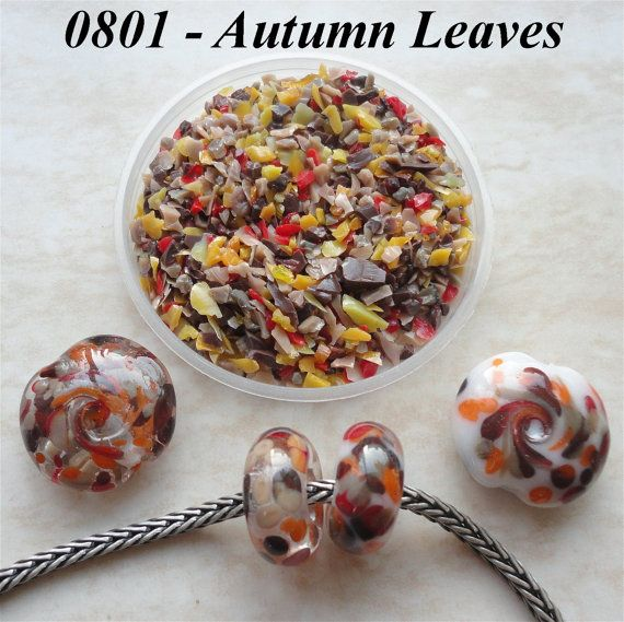 0801 Autumn Leaves  Glass Frit Blend  K1  COE by BeadTreasures4You