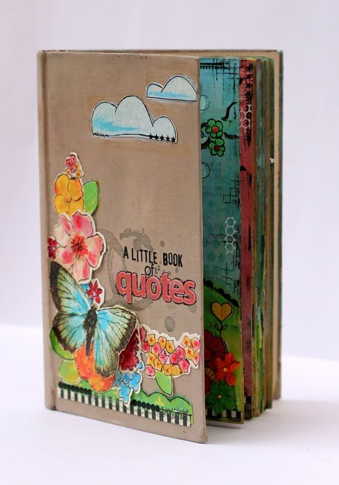 great idea to use an old book as a journal _ Linkage: Recycled vintage books