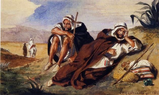 Eugene Delacroix Painting (the Arabs of Oran ) Stolen from Prestigious Paris Art Gallery