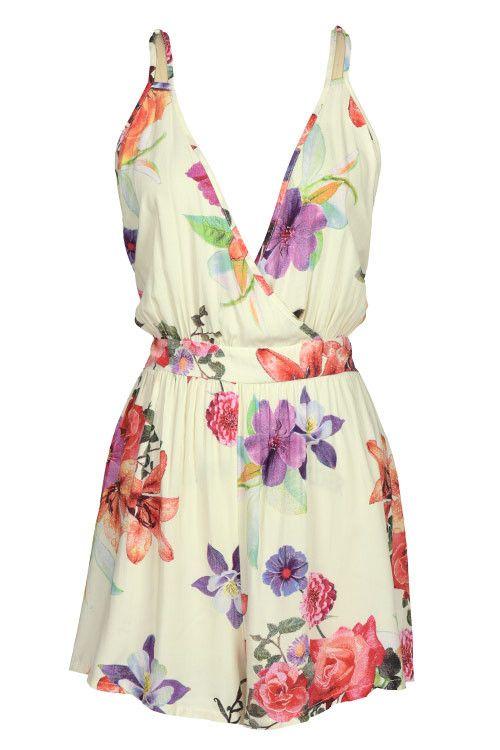 Motivi Floreali 2016: Cupshe Sun and Dance Floral Slip Romper