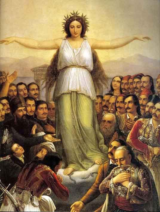 Η Ελλάς ευγνωμονούσα-Theodoros Vryzakis