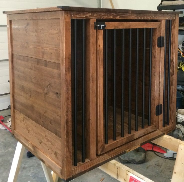 The 25 best large dog crate ideas on pinterest diy dog for Diy crate furniture
