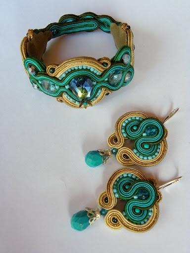 soutache - earrings and bracelet   mishtiart.blogspot.com - follow me! ;)
