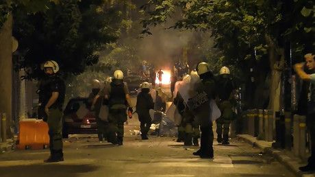 Molotov cocktails vs tear gas: Athens police clash with protesters (VIDEO) https://tmbw.news/molotov-cocktails-vs-tear-gas-athens-police-clash-with-protesters-video  Published time: 30 Jun, 2017 08:47Edited time: 30 Jun, 2017 09:10Tear gas was deployed in the Greek capital as protesters threw Molotov cocktails at riot officers. The stand-off took place after the authorities banned rival demonstrations by a police union and anarchists.The violence erupted Thursday night near the National…