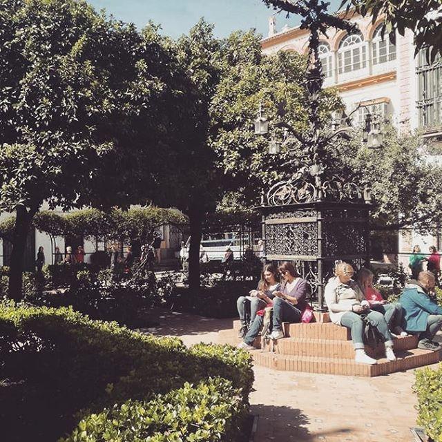 Al sol de la Plaza Sta Cruz no hay mejor sitio para descansar después de un tour! In the sunshine of the Plaza Sta Cruz there is no better place to relax after a tour!  #topcity #citylovers #khaleesi #gameofthrones #PlazaEspaña #añomurillo #santacruz #murilloensevilla #got #Seville #Sevilla #LonelyPlanet #Spain #instatravel #explorespain #exploreeurope #andalucia #wanderlust #holidays #travel