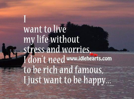 I Dont Need Money To Be Happy