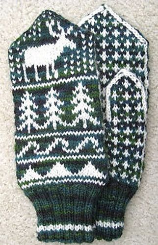 96 best knitting - mittens images on Pinterest | Knit mittens ...