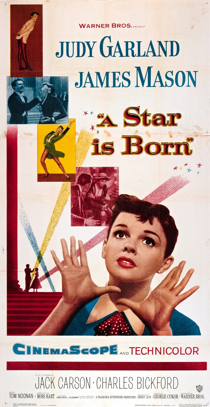 """""""A Star Is Born"""" (1954). Country: United States. Director: George Cukor. Cast: Judy Garland, James Mason, Jack Carson, Charles Bickford"""