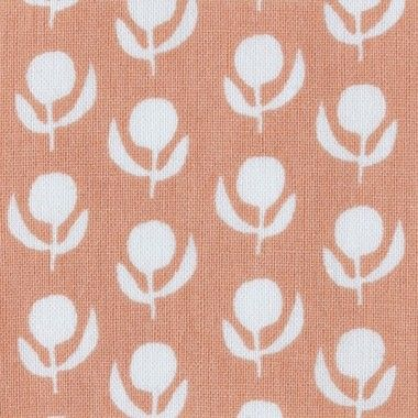 umbrella prints ume peach fabric