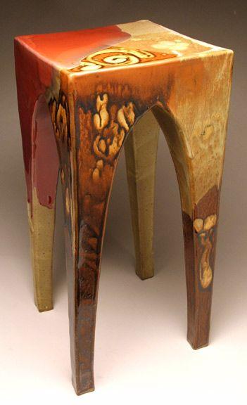 Elegant Ceramic End Table Stool