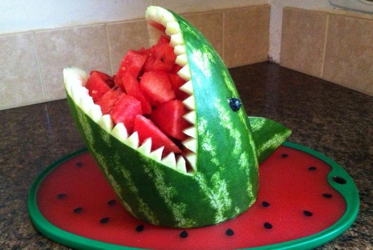 Watermelon shark. In honor of Shark Week...