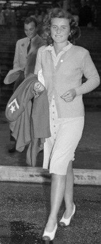 """Kathleen Kennedy """"Kick"""", sister to President John F. Kennedy, briefly married to the eldest son of the Duke of Devonshire, Billy, who was killed roughly one month after their wedding in WWII. Killed in a plane accident 3 years later, buried at Chatsworth estate, England."""