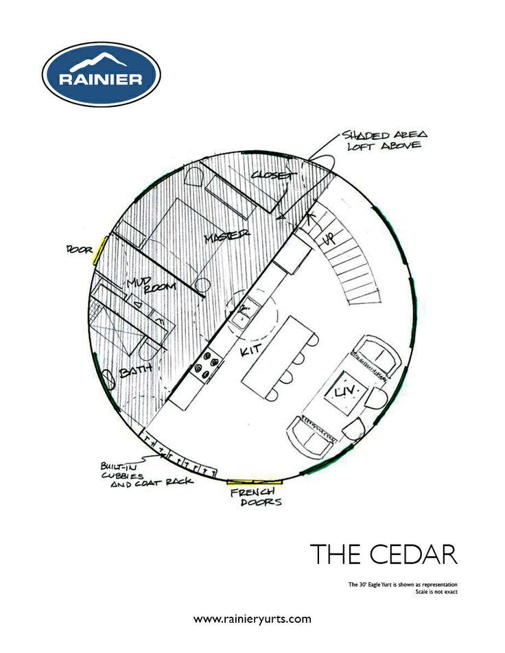 Yurt floor plans rainier yurts house beautiful pinterest for Yurt building plans