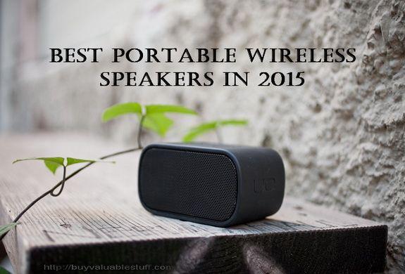 Best Portable Wireless Speakers in 2015