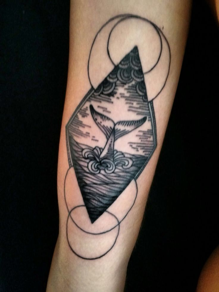Geometric tattoo Sea tattoo Whale tattoo