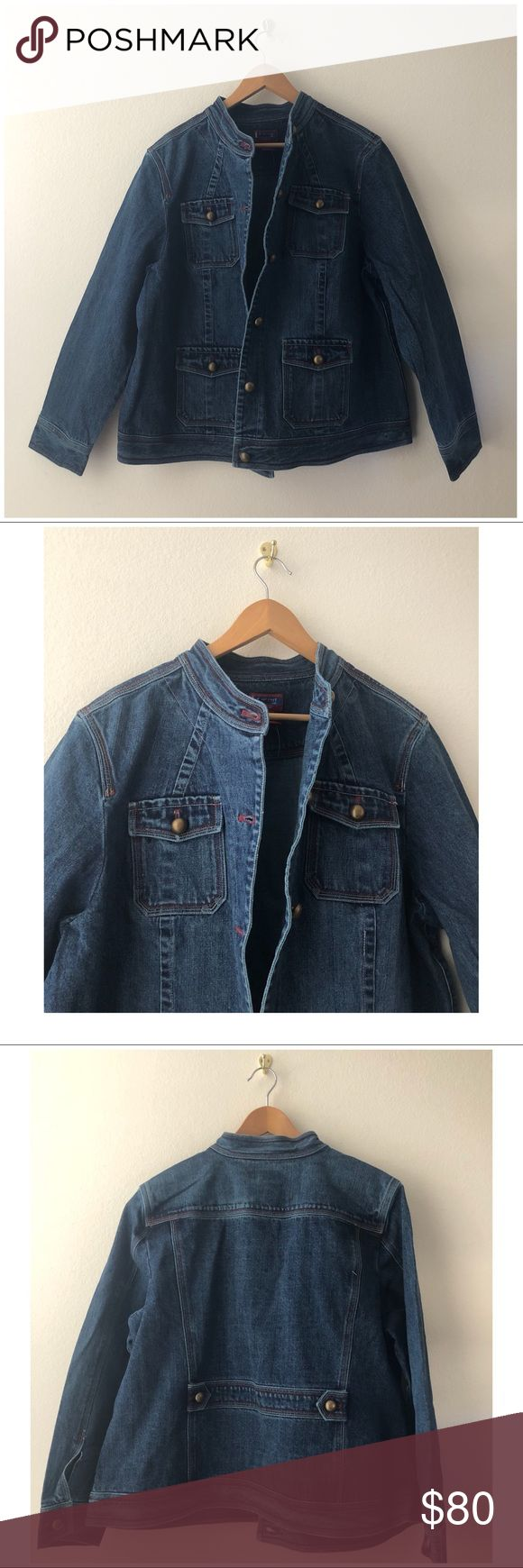 Women's Blue Denim Jacket Material: 100% Cotton. Thick and great for cold weather Jackets & Coats Pea Coats
