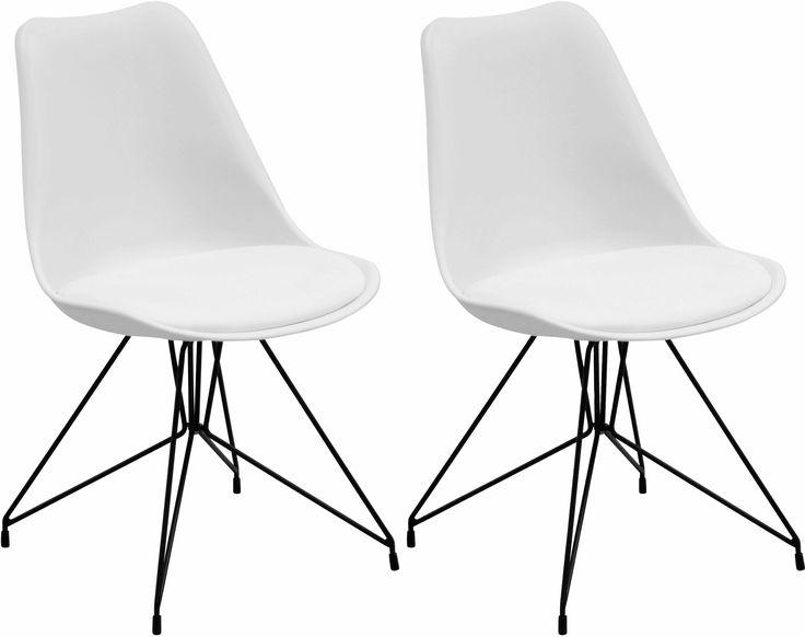 Schalenstühle mit schwarz lackiertem Metallgestell (2 oder 4 Stück) weiß, 2er-Set, yourhome Jetzt bestellen unter: https://moebel.ladendirekt.de/dekoration/aufbewahrung/schalen/?uid=30a895c2-1569-5024-8bb6-f282b6a40fea&utm_source=pinterest&utm_medium=pin&utm_campaign=boards #aufbewahrung #dekoration #schalen