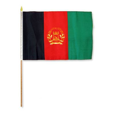 FlagsImporter Afghanistan Traditional Flag and Flagpole Set