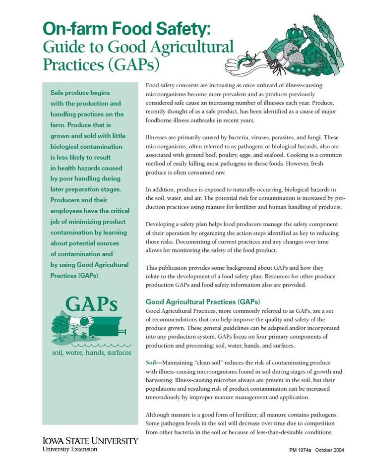 On-farm Food Safety: Guide to Good Agricultural Practices (GAPs)