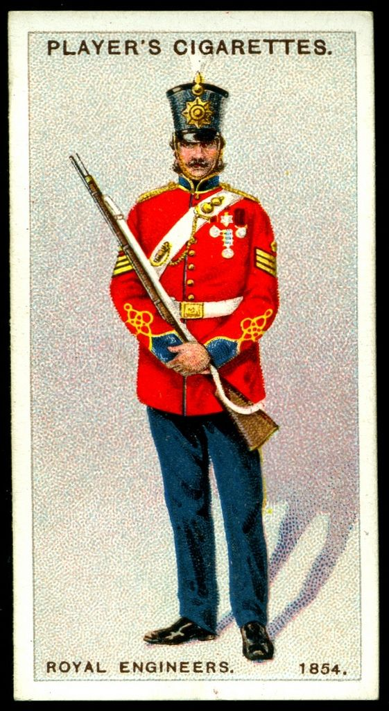 "#78 - Royal Engineers-Colour Sergeant, 1854 - Player's Cigarettes, ""Regimental Uniforms, Second Series"" (issued in 1914) 