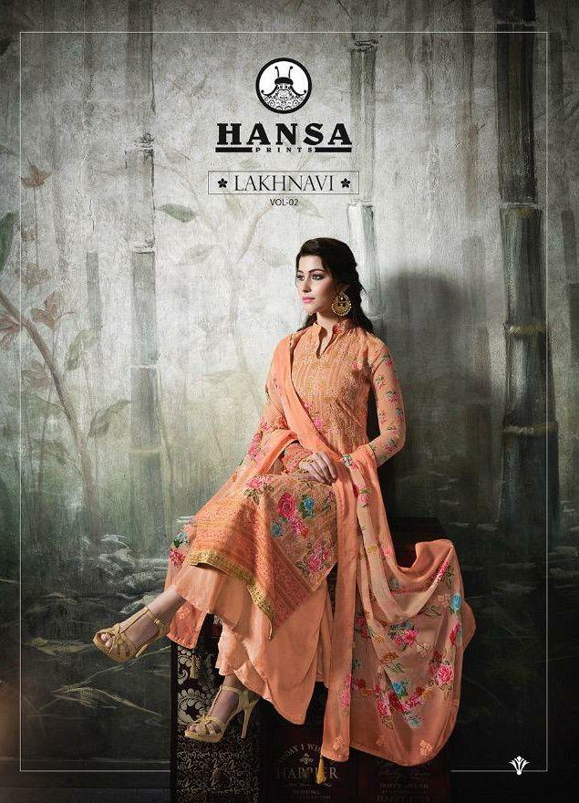 e2b559475d Hansa prints lakhanavi Vol 2 Exclusive Salwar Kameez Catalog wholesale price  surat best rate - 8 pcs Set