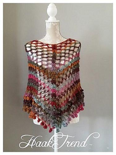 Summer Poncho By Fieke de Rooy - Free Crochet Pattern - (ravelry)