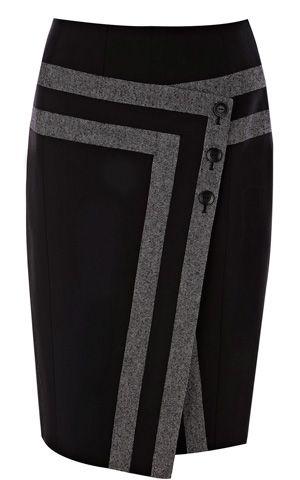 Karen Millen Shiny Tweed Skirt