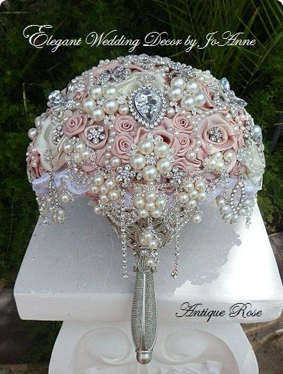 CUSTOM VINTAGE Brooch Bouquet DEPOSIT For by Elegantweddingdecor, $200.00