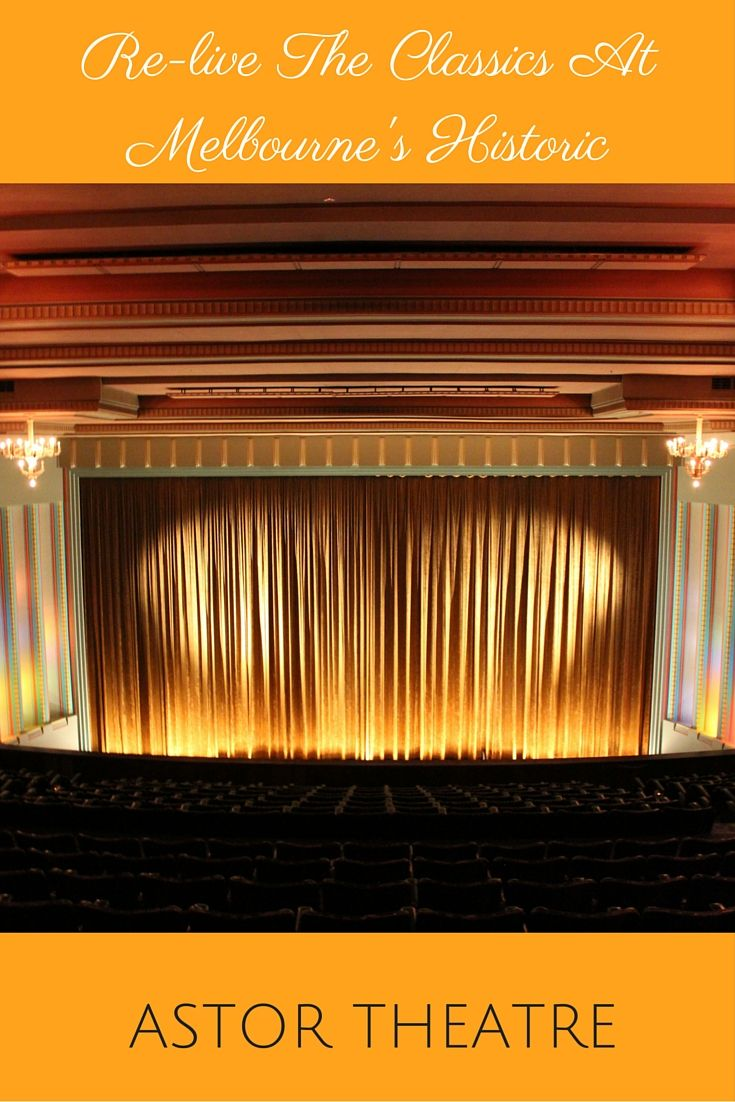 Re-live all your favorite classic films at Melbourne's Historic Astor Theatre. Ambiance and charm at its best!