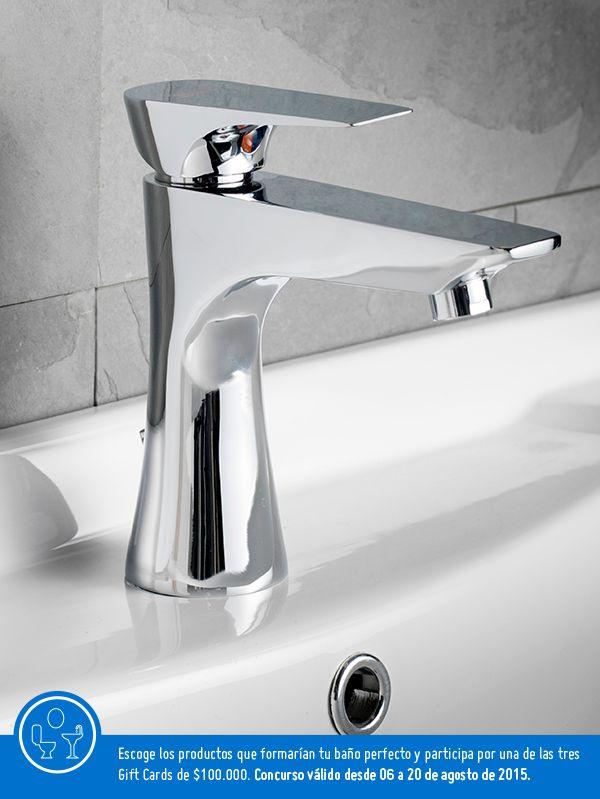 Me encanta el moderno diseño de este grifo de lavamanos.