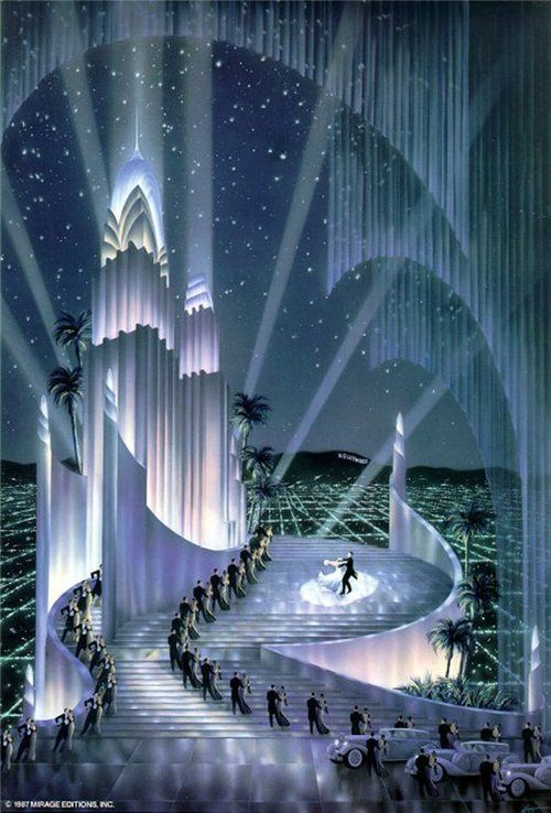 Art Deco illustration by Robert Hoppe.  | Chateau Thombeau