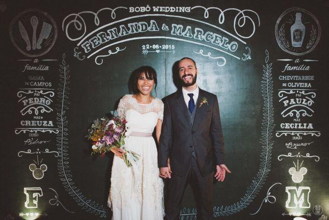 61 backdrops lindos e românticos para as fotos do seu casamento! Image: 39