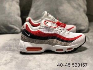 Mens Nike Air Max 95 KPU Shoes Sportswear University Red Pure Platinum Wolf Grey NIKE003254